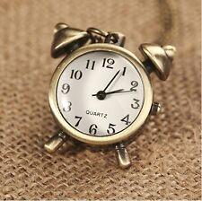 Bronze Tone Vintage Style Necklace Quartz Pendant Pocket Watch & Gift Box