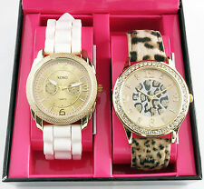 XOXO WATCH XO9077 2 in 1 Set Watch Silicone Strap And Leopard Strap Set Watch