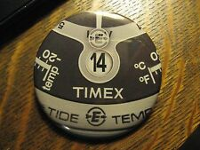 Timex Tide Temp Black Watch Face Dial Logo Advertisement Pocket Lipstick Mirror