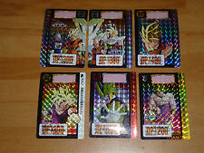 DRAGON BALL Z HONDAN PART 14 BP CARD SET OF 6 PCS PRISM CARTE MADE JAPAN 1993 NM