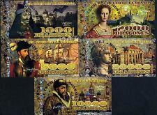 POLYMER SET, El Club De La Moneda, 1000;2000;5000;10000;20000 2014 Evil Rulers