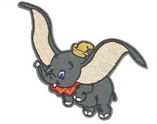 """DISNEY DUMBO PATCH  3""""x3.75"""" EMBROIDERED DUMBO APPLIQUE"""