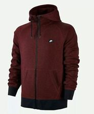 NIKE AW77 FRENCH TERRY FULL ZIP HOODIE MEN LARGE 678560-677 RED NWT SHOEBOX