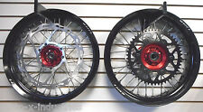 "SUPERMOTO COMPLETE 17""  WHEELS HONDA CRF450 X RED 11732"