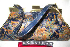 Patricia Nash Italian Leather Vintage Needlepoint Framed Satchel Bag NWT $169