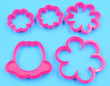 Flower Blossom Cookie Cutter 5 pc Set - NEW