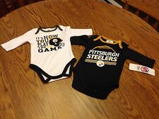 NWT - NFL Pittsburgh Steelers 2 Piece Long Sleeve T-shirts 0-3 months