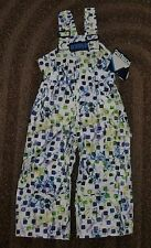 NWT Girls 3T Snow Ski Pants Bibs Suit Blue & Lime Green with GATORS NEW Iceburg