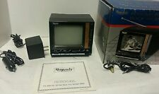 "Vintage-Rhapsody personal portable B&W TV 4.5""-AC & Car Adapter-Vintag Headphone"