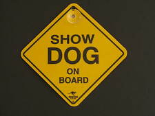 Show Dog On Board Yellow Car Swing Sign Gift