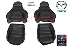Mazda Miata Seat Covers Black Pair for Standard Seats, Fits 1990-1996
