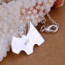 2016 Free Wholesale fashion high quality 925Solid Silver necklace + gift box