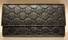 NEW GUCCI Dark Brown Leather Guccissima Continental Wallet Coin Pocket  257303