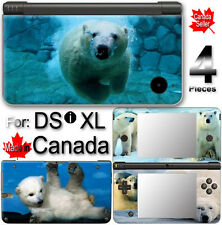 Polar Bear Cute SKIN COVER STICKER for Nintendo DSi XL