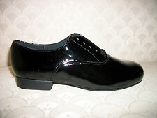 Capezio Boys Ballroom Dance Shoes Black Patent BR02CP New In Box