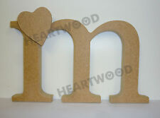 GEORGIA LETTER M WITH HEART IN MDF (125mm x 18mm thick)/M IS FOR MOTHERS DAY