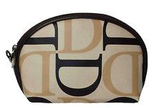Damen Schminktasche Kosmetiktasche beige schwarz tolles Design