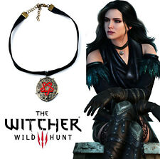The Witcher 3 Yennefer Wild Hunt Medallion Amulet Necklace Pendant Cosplay Gift
