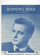 Johnny Preston Running Bear (Blue Cover)  UK Sheet Music