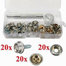60x 3/8'' Boat Marine Cover Canvas Canopy Snap Fastener Sockets Screw Kit Tool