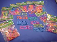 WHOLESALE LOT 120 SILLY BANDS  PHRASES TEXT BANDZ  LOL bracelet rubber jewelry