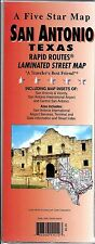 Street Map of San Antonio, Texas, Rapid Routes Folded & Laminated, by Five Star