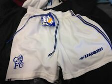 CHELSEA  AWAY SHORTS 2000/1 IN blue IN SIZES 26 INCH UMBRO  BNWL AT £6