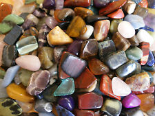 WHOLESALE 50 ASSORTED 1.7cm - 2.3cm POLISHED STONE TUMBLESTONE GEMSTONE CRYSTALS