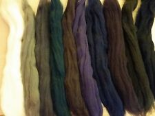CRAZY Merino combed top felting roving multi-color pack Starry Night Lg sampler