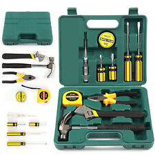 12PCS Tech Professional Basic Fix Repair Home Tools Set Hand Carry Tool Box Kit
