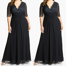Custom Plus Size Lace Mother of the Bride Dress Women Formal Prom16-18-20-22+