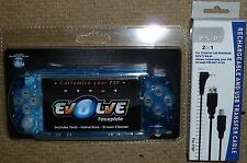 Console SONY PSP SLIM plastron panneau avant pour mod kit crystal clear blue new! usb