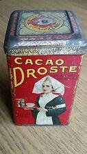 DROSTE CACAO antico scatola di latta, raramente SHABBY CHIC Pubblicità fantastiche lito RAR 1900