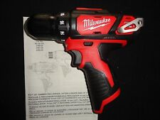 "(1) MILWAUKEE 2407-20 M12 12V 12 VOLT LITHIUM ION 3/8"" DRILL DRIVER TOOL ON"