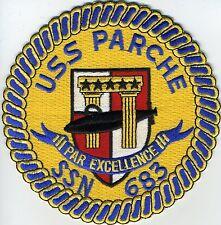 USS Parche SSN 683 - Crest BC Patch Cat No C5527