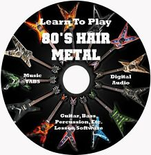 80's Hair Metal Guitar TABS Tablature Lesson CD: Windows,Linux,MAC 2700+ Songs!