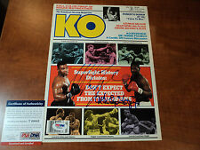 MIKE TYSON & MICHAEL SPINKS Signed AUTHENTIC KNOCKOUT Magazine Photo PSA DNA COA