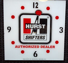 "*NEW* 15"" HURST OIL GASOLINE HOT ROD SQUARE GLASS clock FACE FOR PAM"