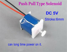 DC 5V 6mm Stroke Push Pull Type Solenoid Electromagnet DC Micro Electric Magnet