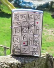 RARE ZIPPO 1932 EMBLEM LIGHTER RARE COLLECTABLE ZIPPO WITH BRIGHT RED STONES