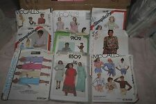 SEWING PATTERNS Vintage lot of  9  Womens patterns Skirts Dresses Tops and more