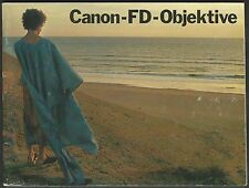 Canon-FD-Objektive – Deutsche Ausgabe – manual german
