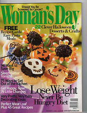 Woman's Day 2002 Halloween Cupcakes Treats Crafts to Make Pasta Recipe Cards