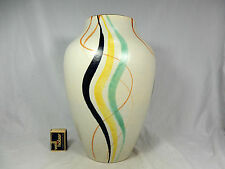 Beautiful handpainted 50´s design Schlossberg Keramik pottery vase 576/30  31 cm