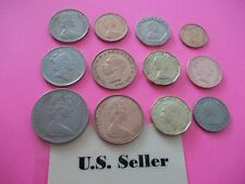 Set of 12 British coins from 1942 to 1994 Some Rare Us seller