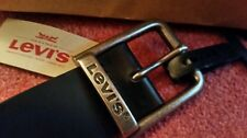BNWT Levi's black 100% bovine leather belt size UK 44 EUR 115/46 NEW + Levi bag