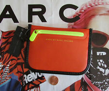 NEW Marc By Marc Jacobs Coin Bag Pouch Luna Tarp TPU Orange Glow