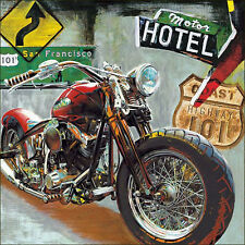 MOTORCYCLE ART PRINT - Highway 101 by Ray Foster HARLEY DAVIDSON POSTER 28x28