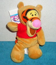 "DISNEY STORE EXCLUSIVE WINNIE POOH TIGGER IN POOH COSTUME 8"" PLUSH BEAN BAG TOY"