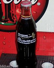 1996 WALT DISNEY WORLD 25TH ANNIVERSARY CINDERELLA'S COACH 8OZ COCA  COLA BOTTLE
